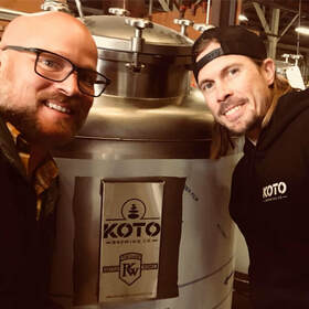 Koto Brewing Owner Shane Cook and Brewer Pierre Tusow